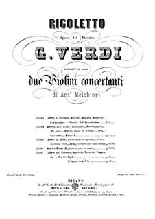 Вся опера: Версия для двух скрипок – партии by Джузеппе Верди