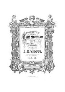 Три дуэта, Op.30: Для двух скрипок – Партии by Джованни Баттиста Виотти