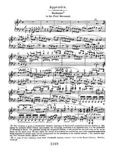 Концерт для фортепиано с оркестром No.2, Op.19: Каденция к первой части by Людвиг ван Бетховен