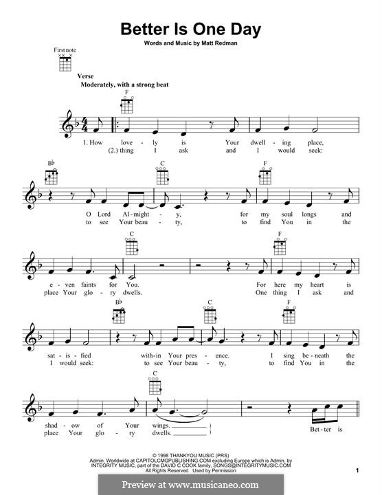 Better Is One Day: For ukulele (Passion) by Matt Redman