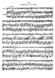 Соната No.1 соль мажор: Партитура by Йозеф Гайдн