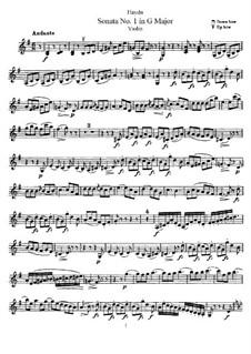 Соната No.1 соль мажор: Сольная партия by Йозеф Гайдн