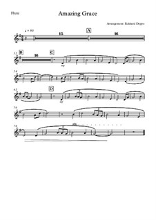 О, благодать: For flute, oboe and strings – part for flute by folklore