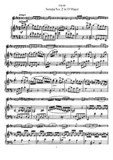 Соната No.2 ре мажор: Партитура by Йозеф Гайдн