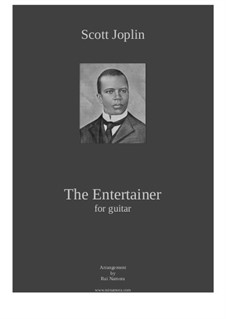 The Entertainer: For guitar (score and tab) by Скотт Джоплин