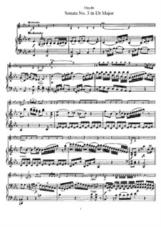 Соната No.3 ми-бемоль мажор: Партитура by Йозеф Гайдн