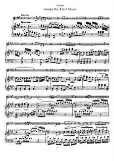Соната No.4 ля мажор: Партитура by Йозеф Гайдн