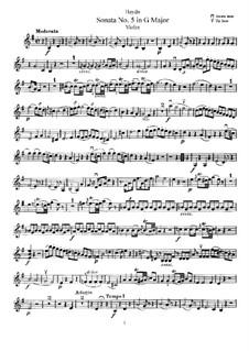 Соната No.5 соль мажор: Сольная партия by Йозеф Гайдн