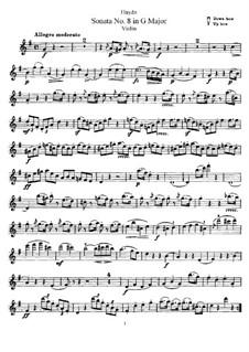 Соната No.8 соль мажор: Сольная партия by Йозеф Гайдн