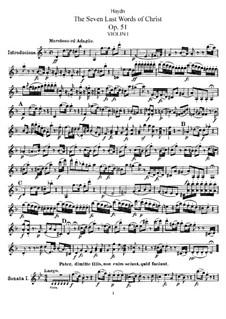 Семь последних слов Христа на кресте, Hob.III/50-56 Op.51: Партия первой скрипки by Йозеф Гайдн