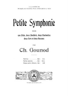 Маленькая симфония для духовых инструментов: Партитура by Шарль Гуно