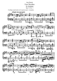 Four Sketches, Op.15: Four Sketches by Эми Мэрси Бич
