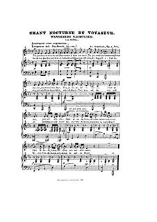Ночная песня странника I, D.224 Op.4 No.3: Ми-бемоль мажор by Франц Шуберт