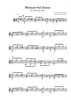 Mexican Hat Dance: For guitar by folklore