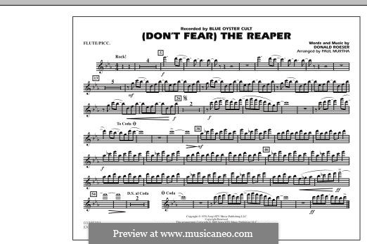 Don't Fear / The Reaper (Blue Oyster Cult): Flute/Piccolo part (arr. Paul Murtha) by Donald Roeser