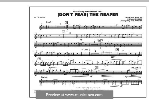 Don't Fear / The Reaper (Blue Oyster Cult): 1st Bb Trumpet part (arr. Paul Murtha) by Donald Roeser