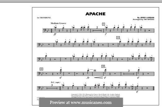 Apache (The Shadows): 1st Trombone part by Jerry Lordan