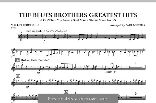 The Blues Brothers Greatest Hits: Mallet Percussion part by David Porter, Isaac Hayes, Muff Winwood, Otis Redding, Spencer Davis, Steve Winwood