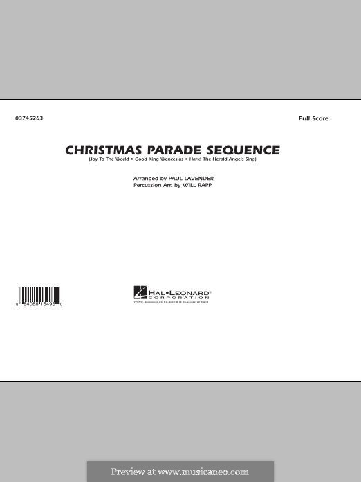 Christmas Parade Sequence: Conductor score (full score) by folklore