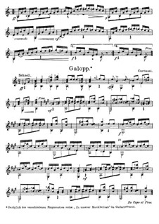 Пьесы для гитары, Op.53: Галоп by Маттео Каркасси