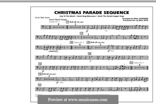 Christmas Parade Sequence: Electric Bass part by folklore