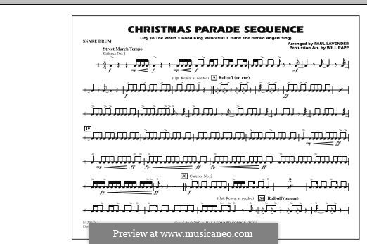 Christmas Parade Sequence: Snare Drum part by folklore