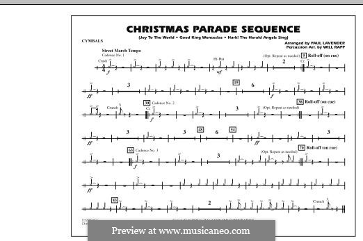 Christmas Parade Sequence: Cymbals part by folklore