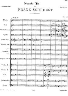 Симфония No.9 до мажор 'Большая', D.944: Партитура by Франц Шуберт
