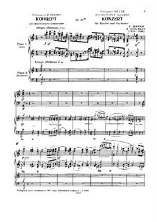 Концерт для фортепиано с оркестром ля минор, Op.54: Версия для двух фортепиано в четыре руки by Роберт Шуман