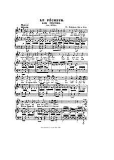 Рыбак, D.225 Op.5 No.3: Клавир с вокальной партией by Франц Шуберт