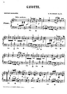 Гавот соль минор, Op.14: соль минор by Джованни Сгамбатти