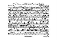 Звёзды и полосы навсегда: Партии by Джон Филип Суза