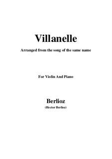 Летние ночи,  H.81 Op.7: No.1 Villanelle, for violin and piano by Гектор Берлиоз