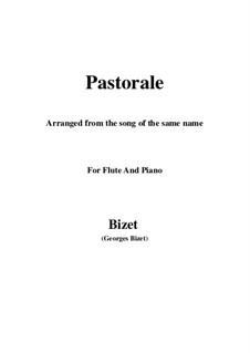 Пастораль: Для флейты и фортепиано by Жорж Бизе