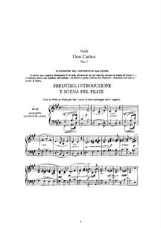 Дон Карлос: Переложение для солистов, хора и фортепиано (Версия в четырёх актах) by Джузеппе Верди