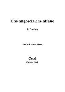 Золотое яблоко: Che angoscia, che affano (F Minor) by Пьетро Антонио Чести