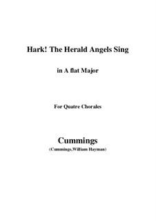 Клавир а вокальной партитурой: For quatre chorales (A flat Major) by Феликс Мендельсон-Бартольди