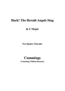 Клавир а вокальной партитурой: For quatre chorales (C Major) by Феликс Мендельсон-Бартольди