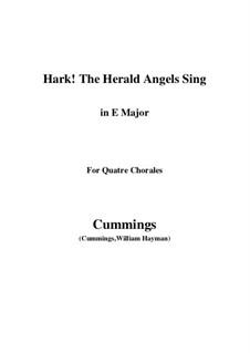 Клавир а вокальной партитурой: For quatre chorales (E Major) by Феликс Мендельсон-Бартольди