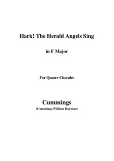 Клавир а вокальной партитурой: For quatre chorales (F Major) by Феликс Мендельсон-Бартольди