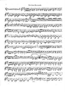 Шесть струнных квартетов, Op.2: Квартеты No.1-3 – Партия второй скрипки by Родольф Крейцер