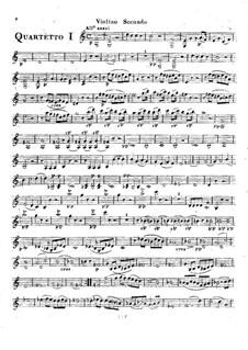 Шесть струнных квартетов, Op.2: Квартет No.4-6 – Партия первой скрипки by Родольф Крейцер