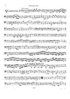 Шесть струнных квартетов, Op.2: Квартеты No.4-6 – Партия виолончели by Родольф Крейцер