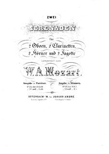 Серенада для духовых инструментов No.12 до минор, K.388: Партия I кларнета by Вольфганг Амадей Моцарт