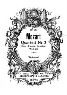 Струнный квартет No.2 ре мажор, K.155: Партия виолончели by Вольфганг Амадей Моцарт