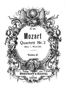 Струнный квартет No.2 ре мажор, K.155: Партия II скрипки by Вольфганг Амадей Моцарт