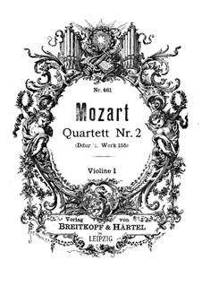 Струнный квартет No.2 ре мажор, K.155: Партия I скрипки by Вольфганг Амадей Моцарт