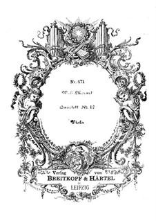 Струнный квартет No.12 cи-бемоль мажор, K.172: Партия альта by Вольфганг Амадей Моцарт