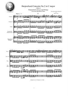 9 Concertos for Harpsicord obbligato and Strings: Concerto No.2 in C major, CSPla19 by Джованни Бенедетто Платти