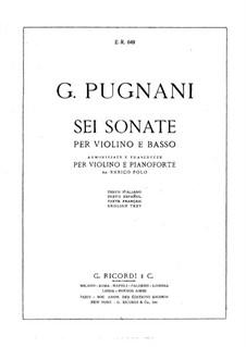 Сонаты для скрипки и бассо континуо: Версия для скрипки и фортепиано by Гаэтано Пуньяни